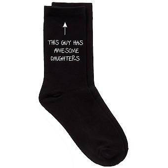 Mens This Guy Has Awesome Daughters Black Calf Socks