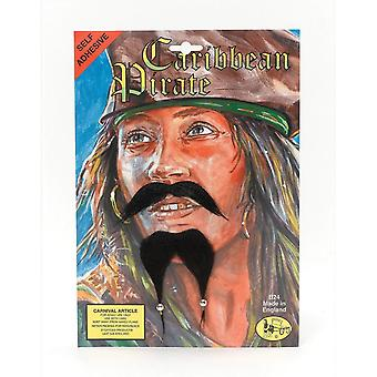Bristol Novelty Caribbean Pirate Beard And Moustache Set