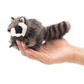 Finger Puppet - Folkmanis - Mini Raccoon New Animals Soft Doll Plush Toys 2646