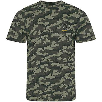 Royal Green Jackets Veteran - Licensed British Army Embroidered Camouflage Print T-Shirt