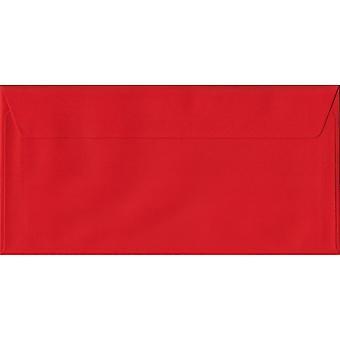قشر أحمر الخشخاش/ختم دل مغلفات حمراء ملونة. 100gsm ورقة مجلس رعاية الغابات المستدامة. 110 مم × 220 مم. المحفظة نمط المغلف.
