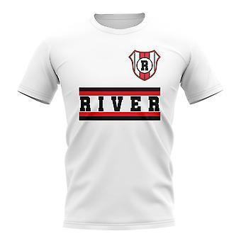 ريفر بلايت كور لكرة القدم نادي تي شيرت (أبيض)
