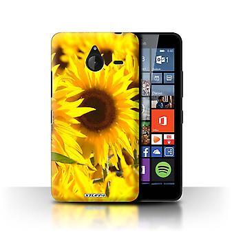 STUFF4 Case/Cover for Microsoft Lumia 640 XL/Sunflowers/Floral Garden Flowers