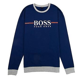 Hugo Boss Autentico Grande Logo Polo Blu