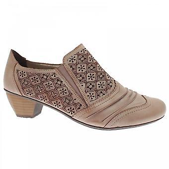 Rieker Ganges Low Heel Beige Shoes
