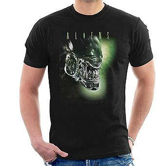 Aliens Movie Cartel Xenomorph Men's Camiseta