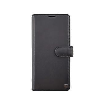 Genuine Leather Black 2-in-1 LG G8 Case