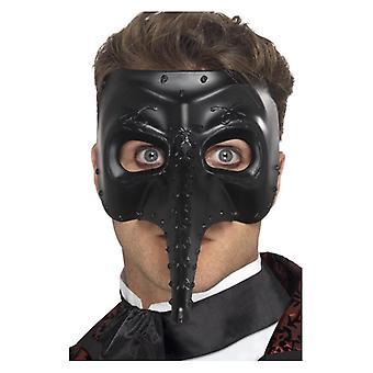 Acessório de fantasia gótico veneziano Capitano máscara Mens