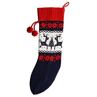 Christmas Shop Classic Knitted Fairisle Pattern Christmas Stocking