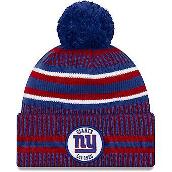 New Era ONF19 Tiempo frío New York Giants Bobble Gorro Sombrero Azul 10