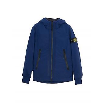 Stone Island Junior Navy Padded Soft Shell Jacket