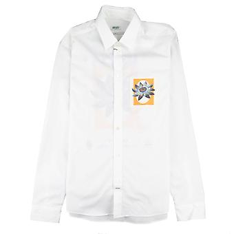Kenzo Passion Flower slim fit overhemd wit