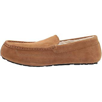 Amazon Essentials mannen ' s lederen Moccasin slipper, kastanje, 12 M ons