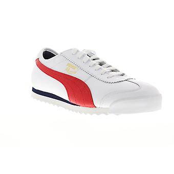 Puma Roma 68 Vintage  Mens White Leather Lace Up Low Top Sneakers Shoes