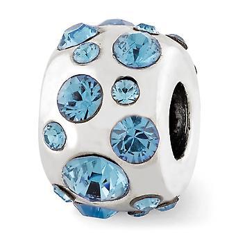 925 Sterling Silver polerade reflektioner mars Crystal Pärla Charm Hängande Halsband Smycken Gåvor för kvinnor