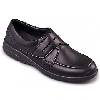 Padders Solar Mens Leather Wide (g/h) Shoes Black