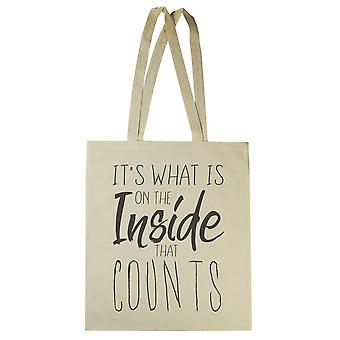 It's What Is In The Inside That Counts - Canvas Tote Shopping Bag