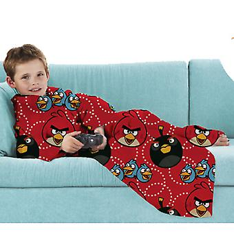 Angry Birds Childrens/Kids Official Sleeved Snuggle Fleece/Blanket