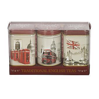 Vintage england triple tea selection mini tin gift pack