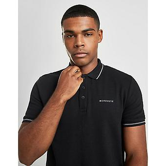 Nieuwe McKenzie mannen ' s Henry korte mouw Polo T-shirt zwart