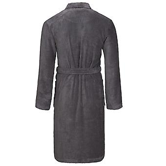 Vossen badjas van 162199-766 mannen Lorenzo grafiet grijs badjas Lounge gewaad