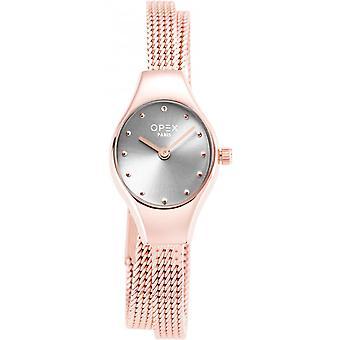 Opex OPW023 Watch - FILANTE Steel Bracelet Rose Bo tier Steel Silver Women