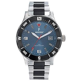Watch Ruckfield 685024 - M tal Chrom and Black Blue Dial Men