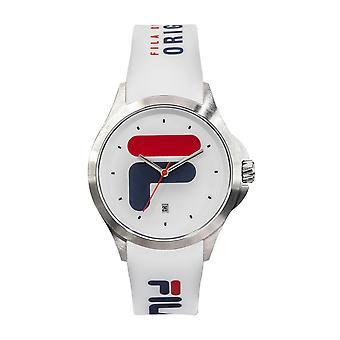 Watch Fila 38-181-003 - White Silicone Dateur Watch 40 mm Men/Women