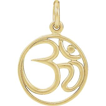 925 Sterling Silver 24k 14k Gold Plated Polished Ohm Charm Pendant Necklace Jewelry Gifts for Women