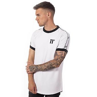 Onze degrés 11 degrés 11d-1664 T-shirt de sonnerie taped - Blanc