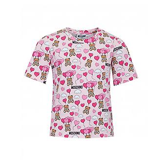 Moschino All Over Toy Logo Crop T-shirt