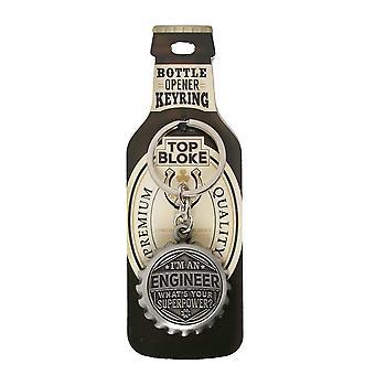 History & Heraldry Keyring - Engineer Bottle Opener