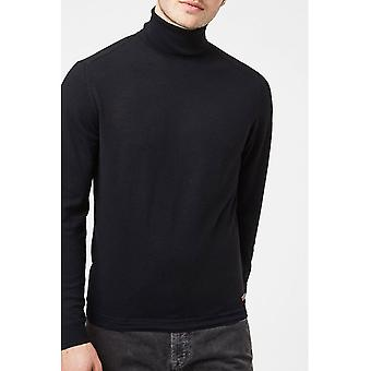 Merinos wool sweater turtleneck fitted cut