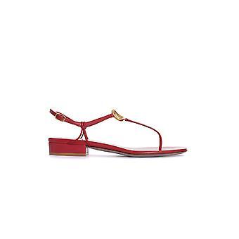 Valentino Garavani Tw2s0v37ddtju5 Women's Red Leather Sandals