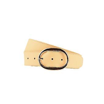 Luxury Peach Women's Belt With Oval Buckle