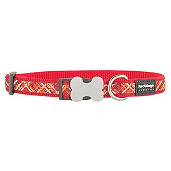 Red Dingo Collar para Perros Flanno Rojo XL