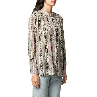 Isabel Marant Ch023820p079epibk Women's Blusa de Algodão Multicolor