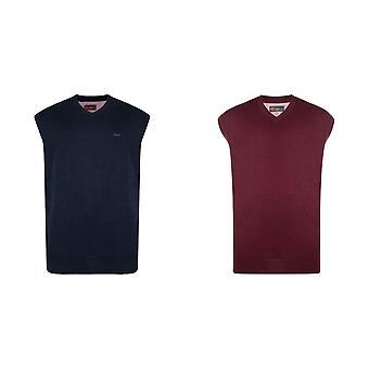 Kam Jeanswear Mens V- Neck Sleevless Knit Jumper