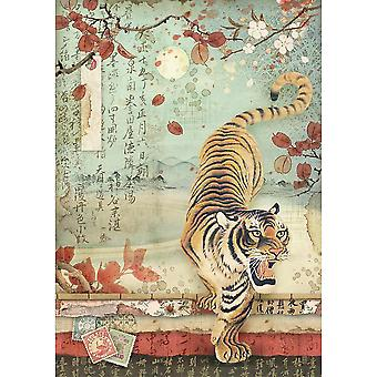 Stamperia Rice Paper Sheet A4-Tiger