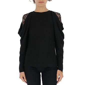 Alberta Ferretti 09296600a0555 Women's Black Cotton Sweater