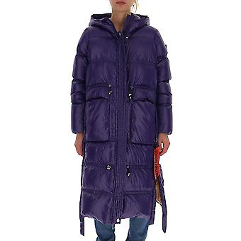 After Label Al067590 Women's Purple Polyester Down Jacket