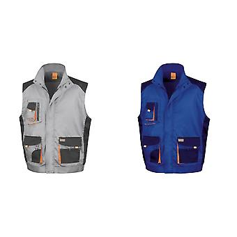 Result Mens Work-Guard Lite Workwear Gilet / Bodywarmer (Breathable And Windproof)