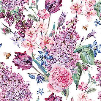 Ambiente 3 Ply Paper Napkins, Flower Composition