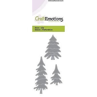 CraftEmotions يموت - أشجار الصنوبر بطاقة 5x10cm