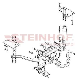 Steinhof Towbar (fixes 2 bolts) for Volvo S40 mk2 2004-2012