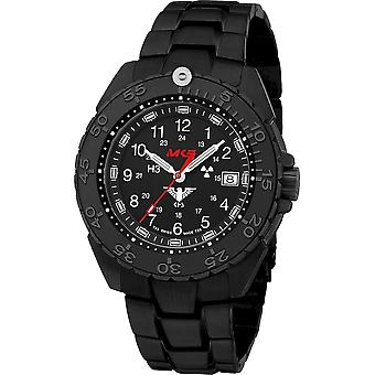 KHS Wristwatch الرجال المنفذ الأسود الصلب CR KHS. ENFBSCR. SSEB
