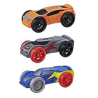 Nerf Nitro Foam Car 3-Pack (Orange, Blue, Silver)
