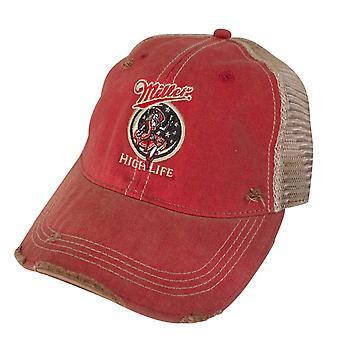 Miller High Life flicka i månen Retro märke Orange mäns Trucker hatt
