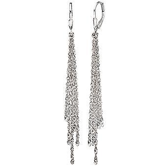 Boutons 925 Sterling Silber Ohrringe Ohrhänger lang Silberohrringe