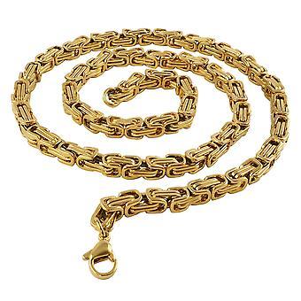 5 mm Königskette Armband Herrenkette Männer Kette Halskette, 50 cm Gold Edelstahl Ketten